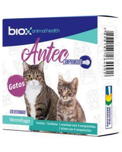 Vermífugo Biox Antec para Gatos 4 Comprimidos